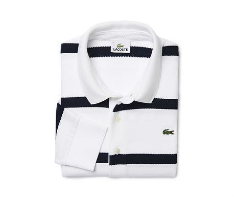 Regular fit polo with herringbone stripes from Lacoste