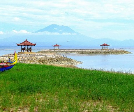 Sacred Mt Agung from Sanur Beach, Bali