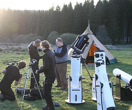 Setting up the telescopes