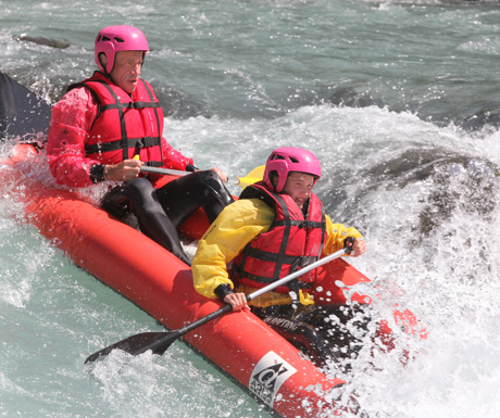 Whitewater rafting in Spring