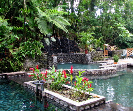 Hot Pool and Cold Pool with Natural Shower