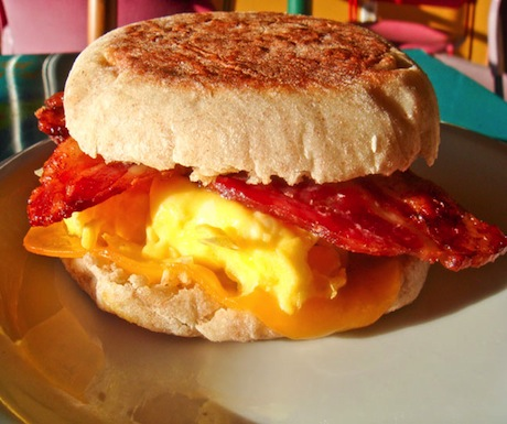 English muffin breakfast at Model Bakery