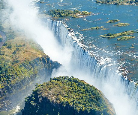 Helicopter flights over Victoria Falls