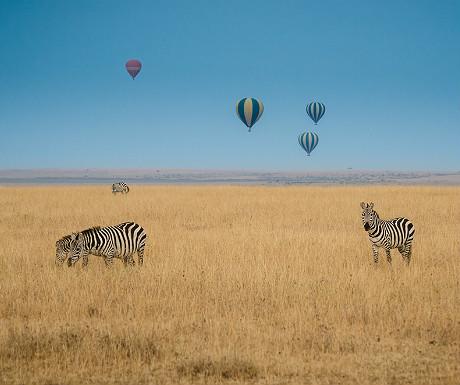 Hot air balloon rides over the Serengeti