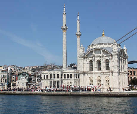 Istanbul Mosque see from boat