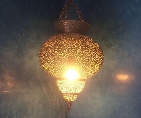 Moroccan lantern in souk