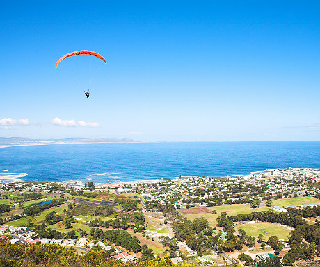 Paragliding over South Africa
