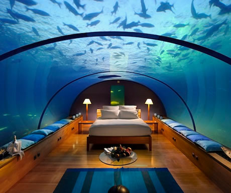 Underwater bedroom, Maldives