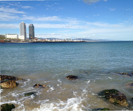 Barcelona From The Sea