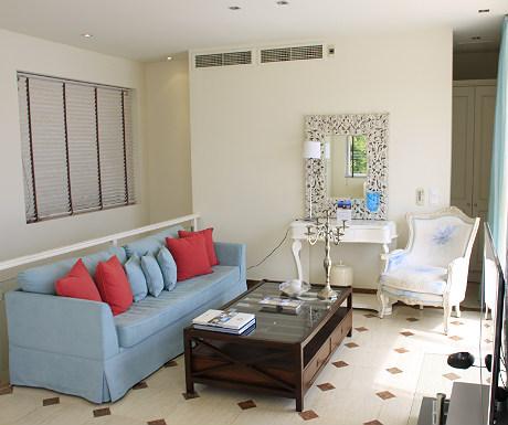 Elounda Gulf Villas villa lounge area