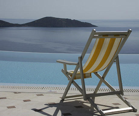 Elounda Gulf Villas villa pool and deckchair