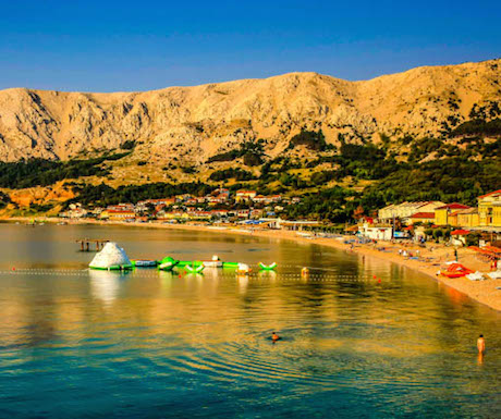 Sunrise over Baska on the island of Krk in Croatia