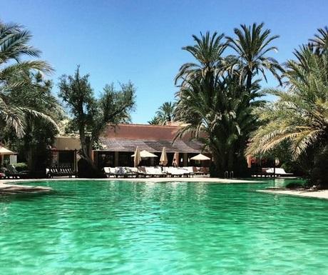 Luxury pool in La Palmeraie