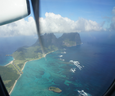 Arrival into Lord Howe and view of coral reef