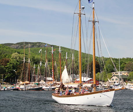 Enjoy a schooner sail in  Camden