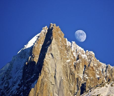 Chamonix moon