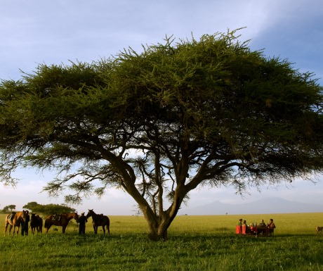 Meals on a riding safari - Ol Donyo