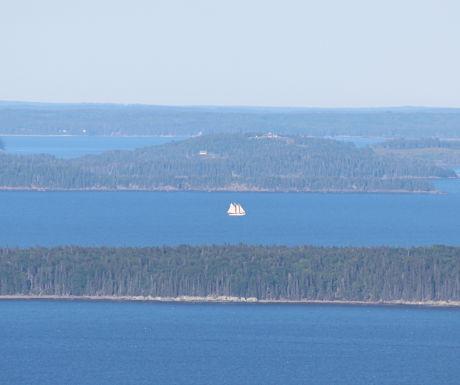 The view of Penobscot Bay from Mount Battie