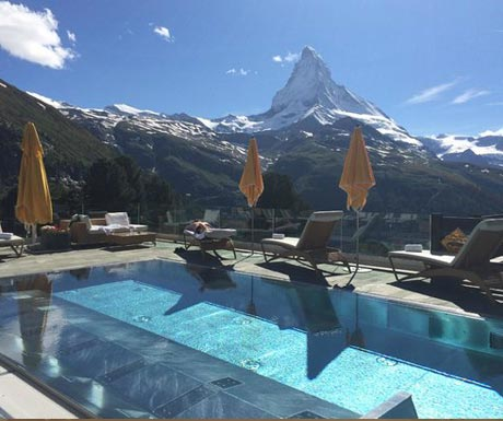 Riffelalp Hotel outdoor pool