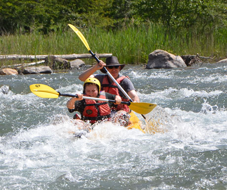 River kayaking in the Southern French Alps