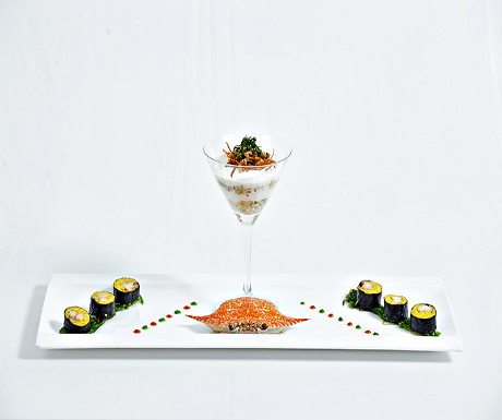 Rock lobster and seaweed sushi