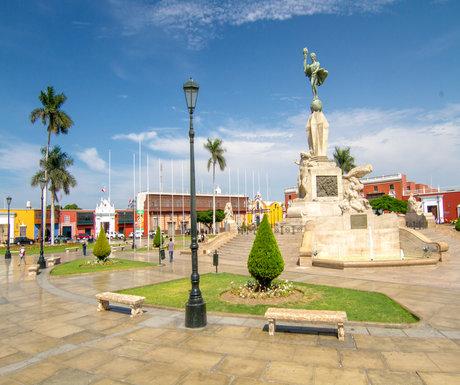 Trujillo Plaza Statue