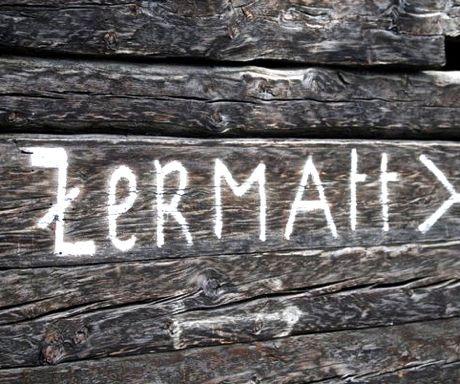 Zermatt sign