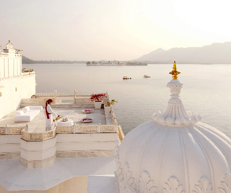 1. Dine at Bhairo restaurant; stay at Taj Lake Palace
