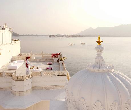 1. Dine at Bhairo restaurant; stay at Taj Lake Palace