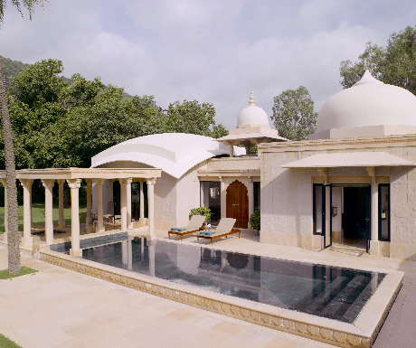 4. Take a cow dust tour in rural Rajasthan; stay at Amanbagh