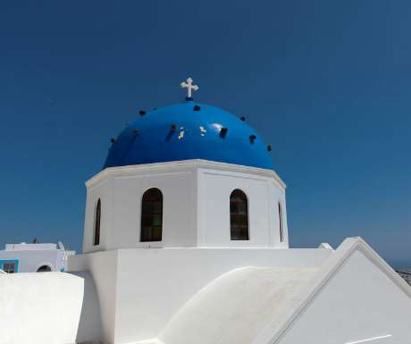 Chapel in Santorini