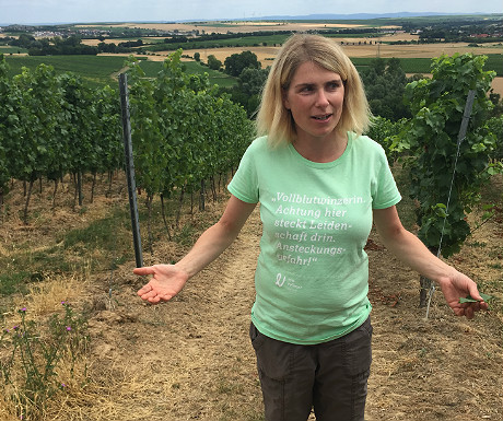 Eva Vollmer at her vineyard