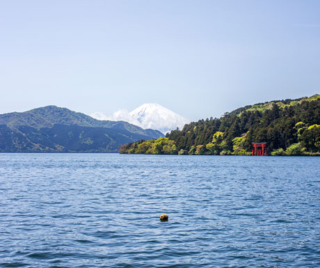 Mount Fuji across Lake Ashi, Hakone