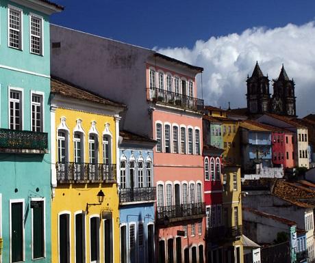 Colonial buildings in Salvador