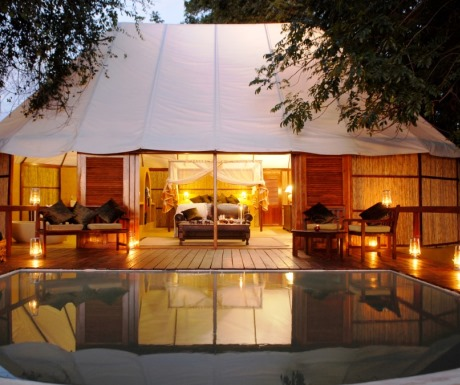 Sausage Tree camp traditional tented camp in Lower Zambezi National Park