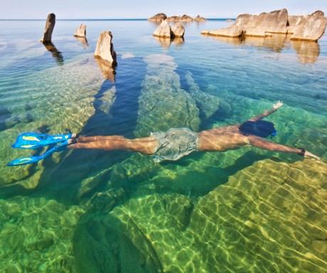 Snorkelling in nearby Lake Malawi Malawi