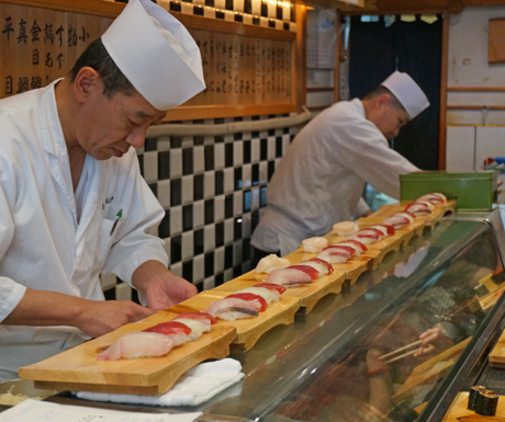 Take a tour of Tsukiji Fish Market and sample the worlds finest sushi in Tokyo