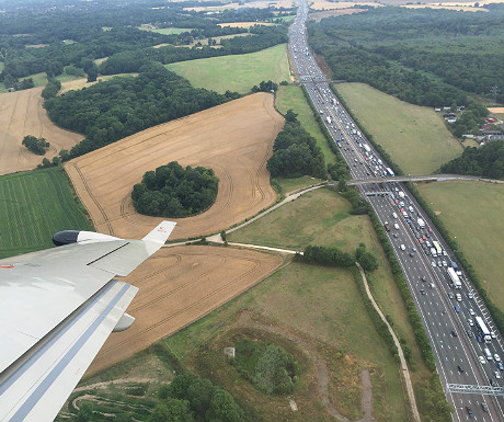 The M25 from above