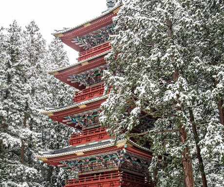 The five-storeyed pagoda of Toshogu at Nikko