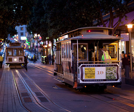 Cable Car in the Evening