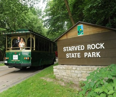 Bride on Trolly Starved Rock