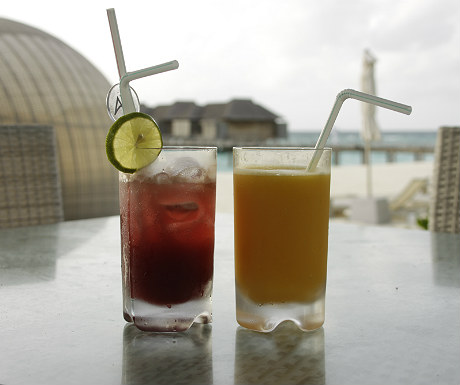 Drinks at the Infinity Bar