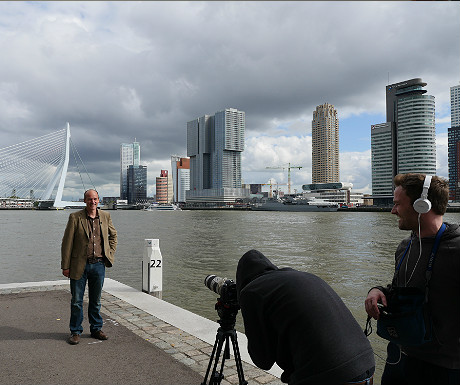 Erasmus Bridge filming