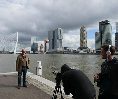 Erasmus Bridge filming