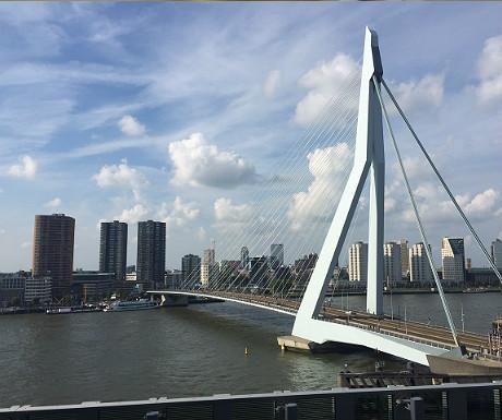 Erasmus Bridge from Nhow Bar