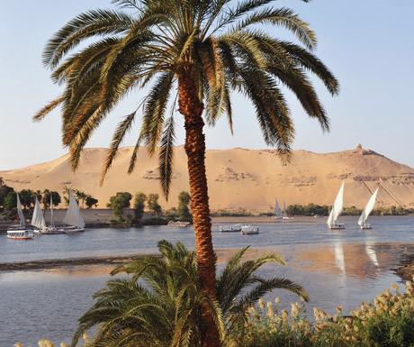 Feluccas in Aswan, Egypt