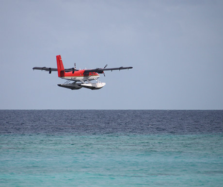 Flying seaplane