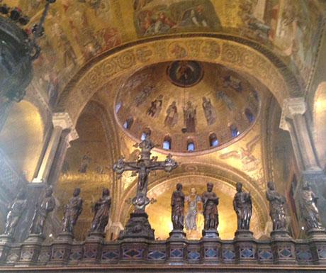 Golden mosaics of St Marks Church, Venice