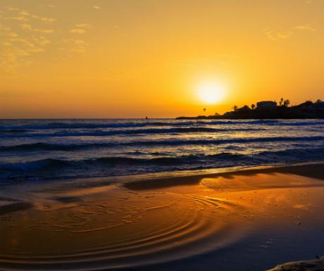Javea El Arenal beach sunrise Costa Blanca