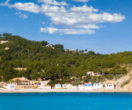 Javea Xabia Playa la Barraca Cala Portichol in Alicante